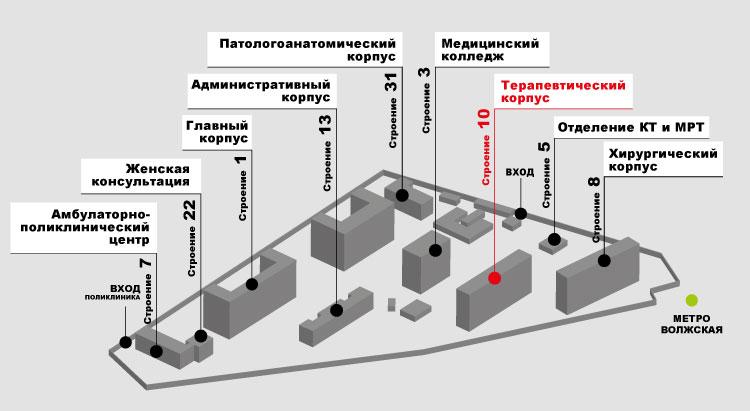 Терапевтический корпус ГКБ имени В.П. Демихова