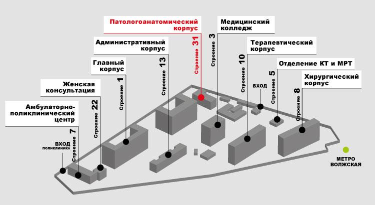 Патологоанатомический корпус ГКБ имени В.П. Демихова
